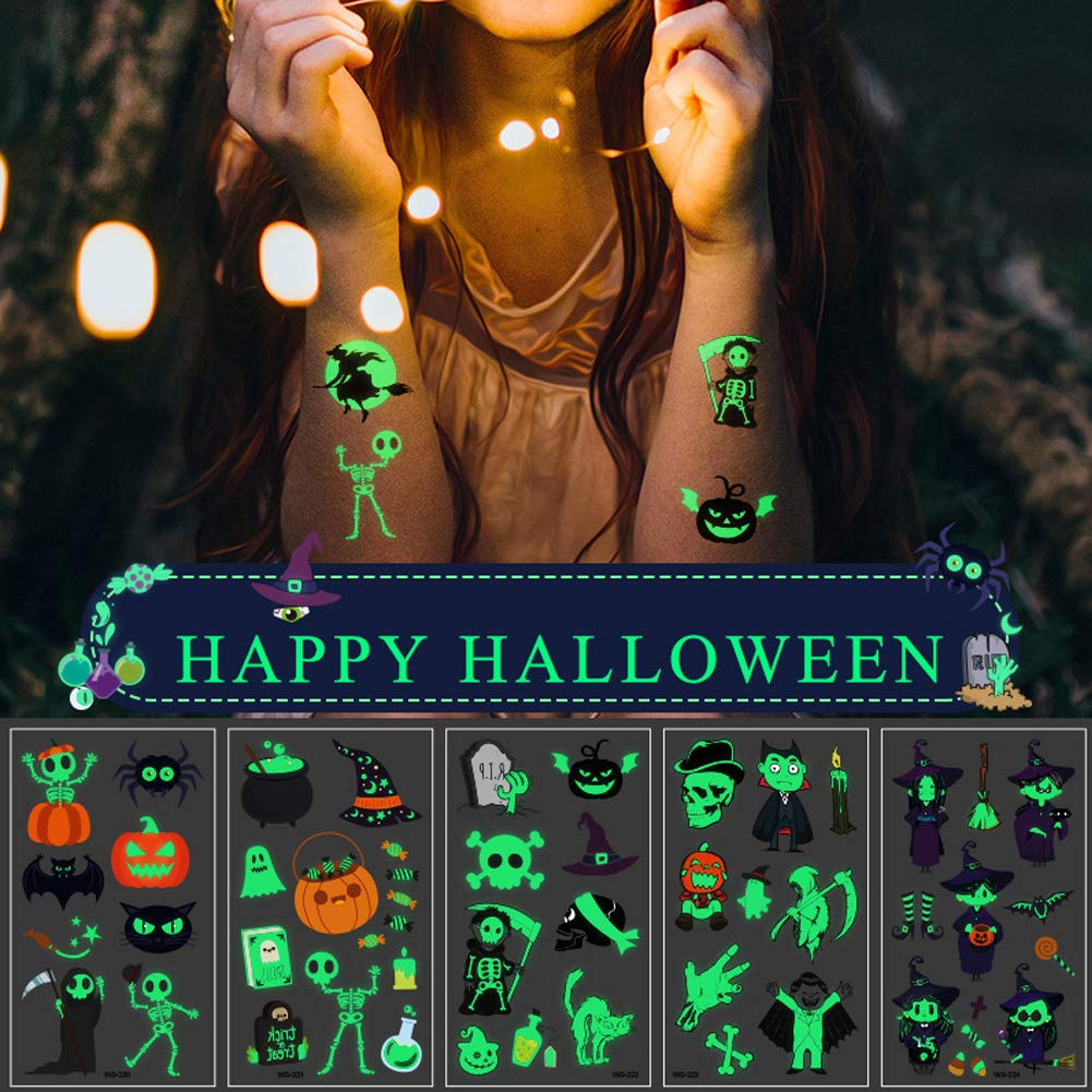 Halloween Glow in the Dark Temporary Tattoos