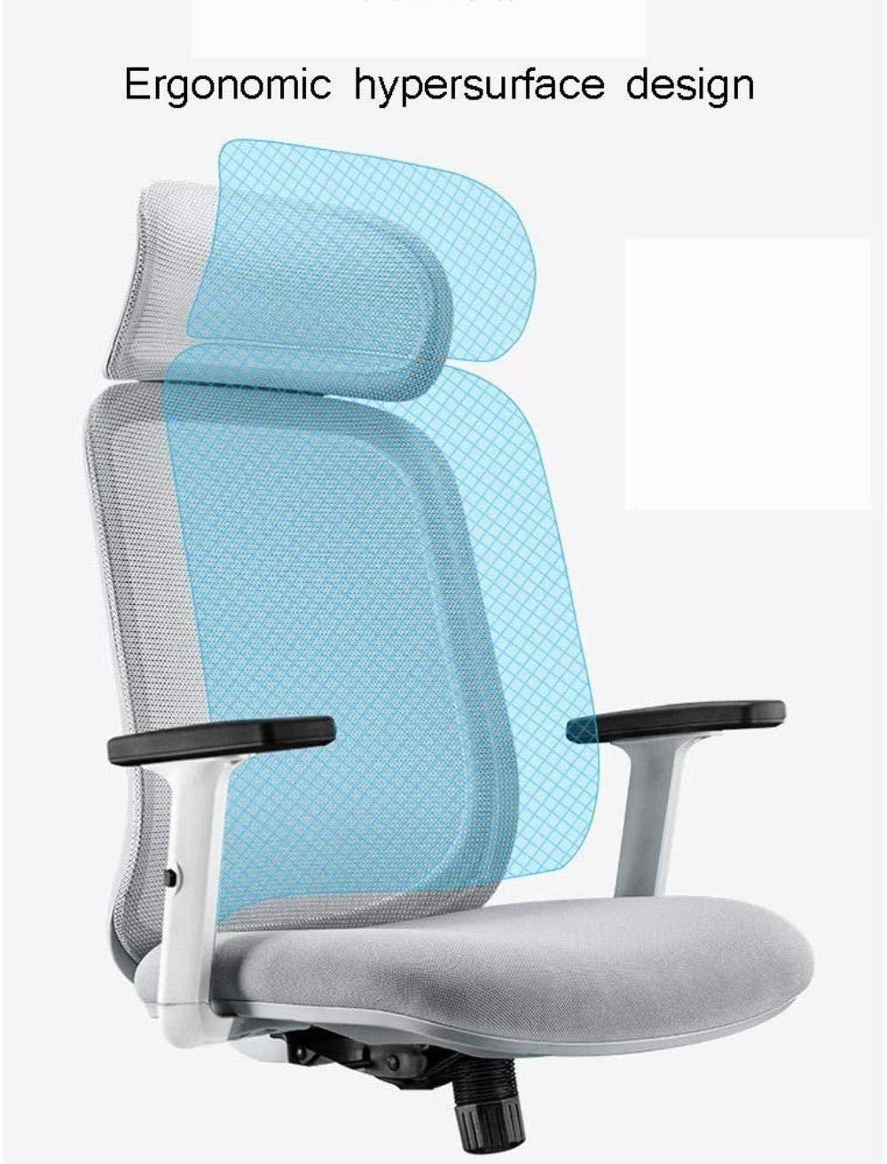 Barstolar Xiuyun kontorsstol spelstol, ergonomisk höjd justerbar datorstol, svängbar stol med hög rygg, skrivbordsstol med lyfträcke och huvudstöd nätstol (färg: Stil2) stil2