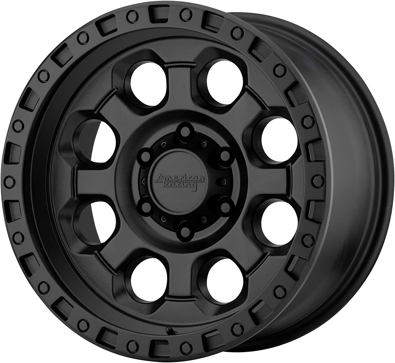 0 Offset 8x165.1 Bolt Pattern American Racing AR201 Custom Wheel Cast Iron Black 16 x 8 125.5mm Hub