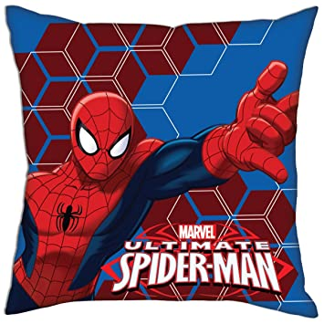 Marvel Spider-Man Cojín 1, poliéster, Rojo/Azul: Amazon.es ...