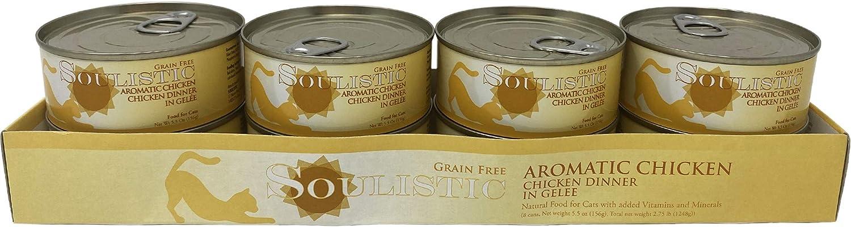 Soulistic Aromatic Chicken Chicken Dinner in Gelee Wet Cat Food, 5.5 oz., Case of 8, 8 X 5.5 OZ