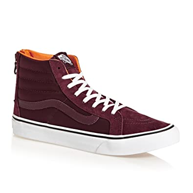1764da05ea5ed3 Vans Sk8-Hi Trainers Maroon  Amazon.co.uk  Shoes   Bags