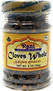 Rani Cloves Whole (Laung) 2oz (56g) Great for Food, Tea, Pomander Balls and Potpourri, Hand Selected, Spice ~ PET Jar, All Natural | NON-GMO | Vegan | Gluten Friendly | Indian Origin
