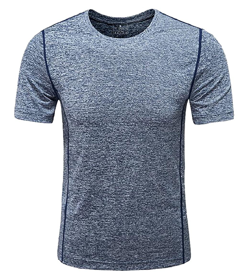 Ptyhk RG Men Sport T-Shirt Quick Dry Short Sleeves Performance Tops