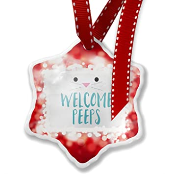 Christmas Ornament Welcome Peeps Easter Bunny Face, red - Neonblond - Amazon.com: Christmas Ornament Welcome Peeps Easter Bunny Face, Red