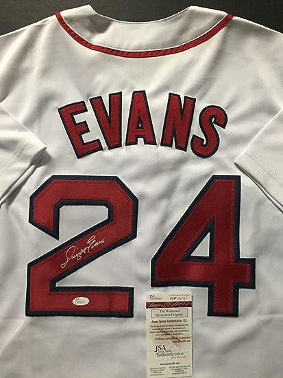 b3f4e8717 Autographed/Signed Dwight Evans Boston White Baseball Jersey JSA COA at  Amazon's Sports Collectibles Store