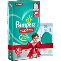 Pampers Extra Large Size Diapers Pants (56 count) and Pampers Fresh Clean Baby Wipes (64 count) combo pack