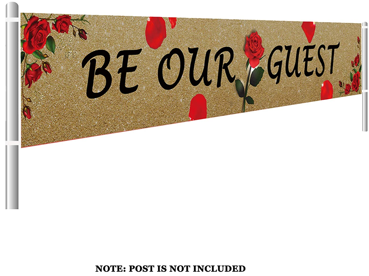 Lets Get Flocked Up Banner Summer Hawaiian Luau Party Decorations 9.8 x 1.5 feet Colormoon Large Flamingo Bachelorette Party Supplies Decorations