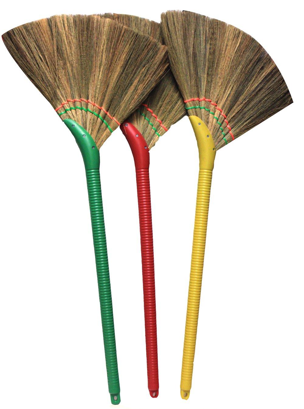 掃把Choi Bong Co Vietnam Hand Made Straw Soft Broom with Plastic Handle 12'' Head Width, 40'' Overall Length -1pc