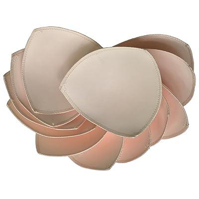 6 Paires Bra Pad Insert Pour le soutien-gorge de sport ou Bikini Tops 5X5 pouces (Beige)