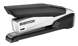Bostitch inPOWER+28 Executive Stapler - 3 in 1 Stapler - One Finger, No Effort, Spring Powered Stapler, Black/Silver (1110)