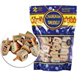 Zion Judaica Wood Dreidels Medium Sized in Bulk in Ziplock Bag (30 Pack)