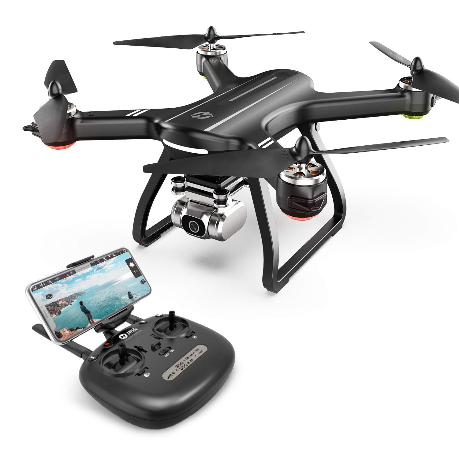 Holy Stone HS700D FPV Drone with 2K HD Camera Live Video and GPS Return Home, RC Quadcopter for Adults Beginners with Brushless Motor, Follow Me, 5G WiFi Transmission, Modular Battery, Advanced Selfie by Holy Stone