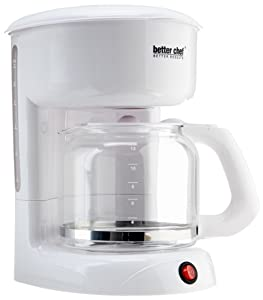 Better Chef 12-Cup Coffee Maker, White