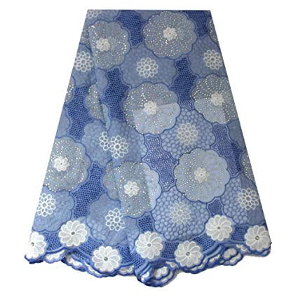 a2aa59abd Amazon.com: African Swiss Voile lace Fabric Nigeria lace French lace ...