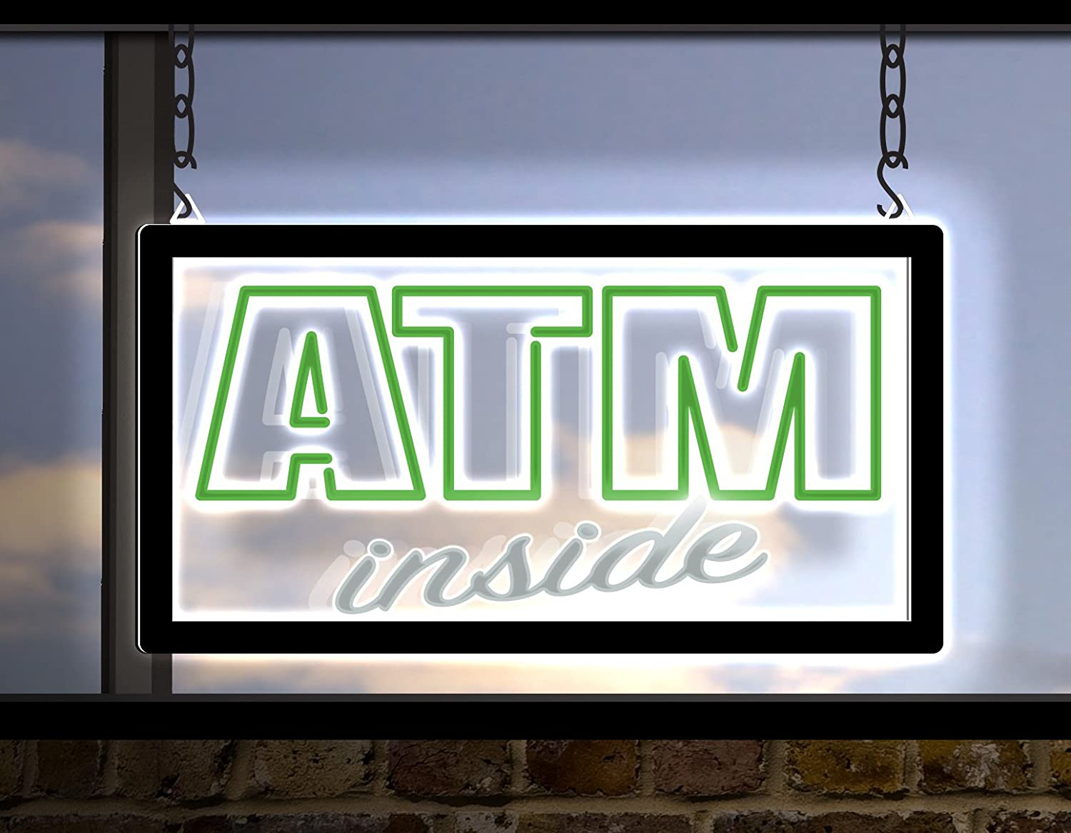 NeonFree LED ATM Inside Sign 19 x 10