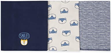 One Size Gerber Baby 3 Pack Knit Burp Cloth Starry Dreams