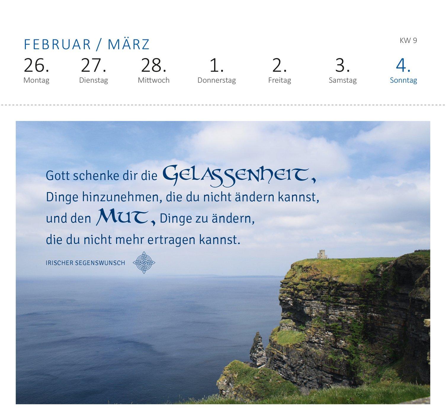 Irische Segenswünsche 2018 Postkartenkalender Amazonde Bã¼cher