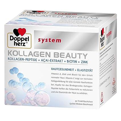 30 ampollas bebibles Kollagen Beauty de Doppelherz. Péptidos de colágeno + extracto de asaí +