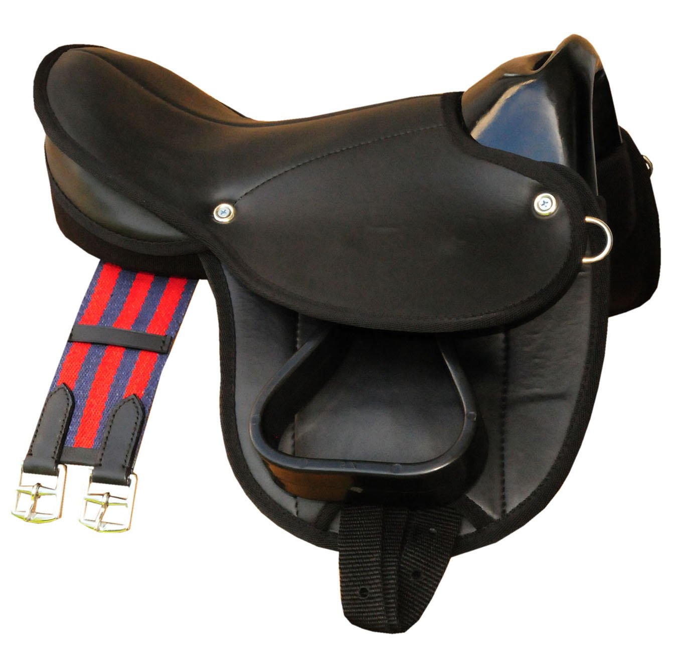 Little Billy Pony Shetland saddle, complete set also for wooden horses, colour: black, saddle set for pony or Shetland pony or wooden horses Reitsport Amesbichler