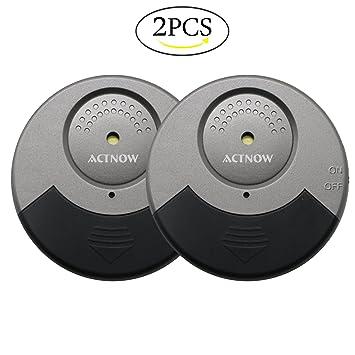 Mini Ventana Alarma, actnow 105dB según Alarma de rotura de rotura de cristal inalámbrico con vibración Sensores 2 unidades: Amazon.es: Informática