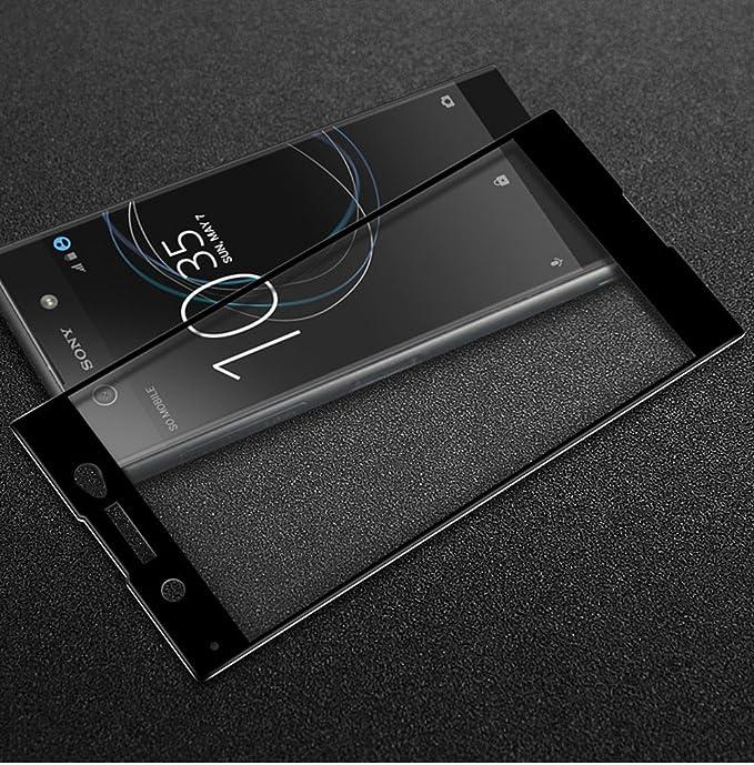Para Sony Xperia XA1 Ultra Cristal Vidrio Templado de Cobertura ...