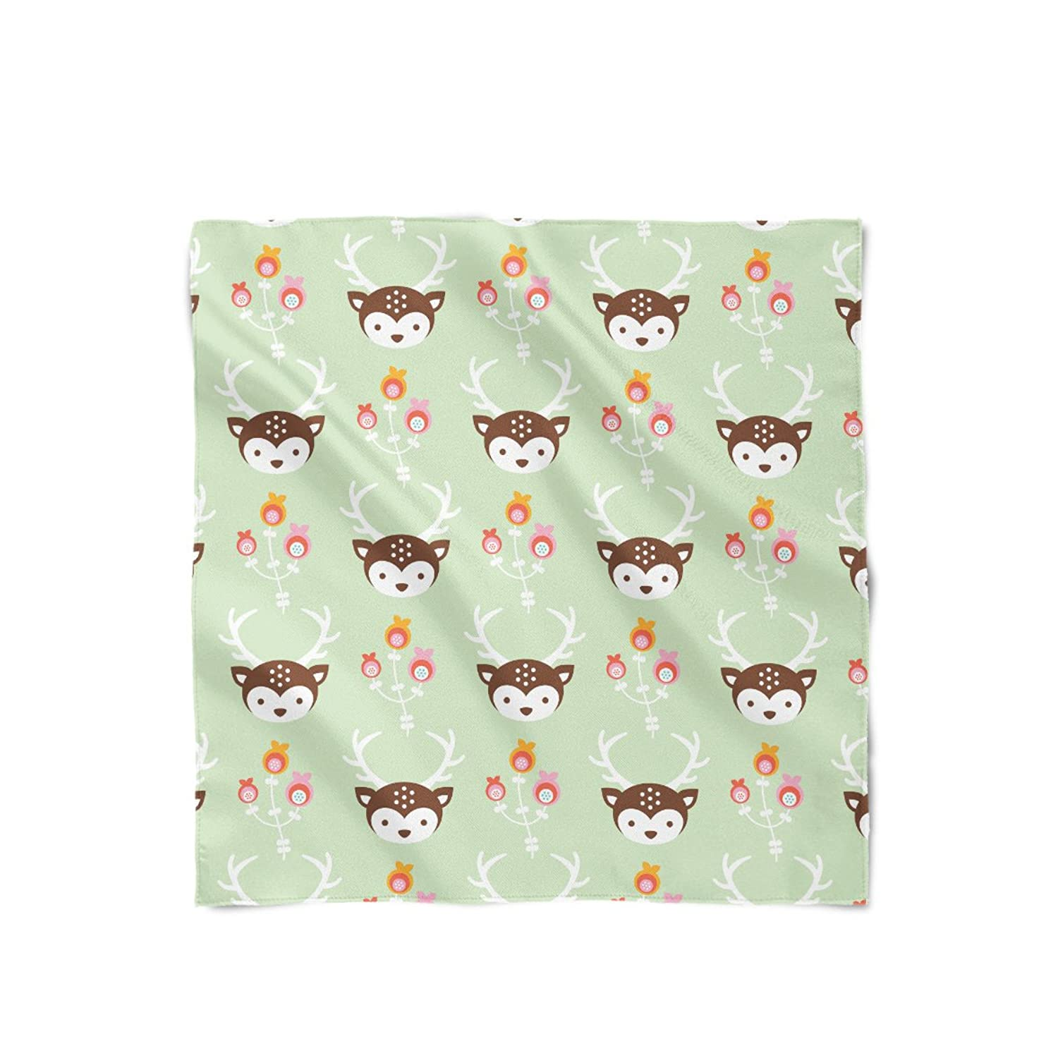 Oh Deer! Pastel Green Satin Style Scarf