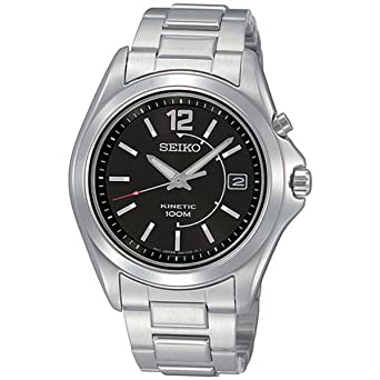 SEIKO SKA477P1 - Reloj analógico automático para hombre con correa de acero inoxidable, color plateado: Seiko: Amazon.es: Relojes