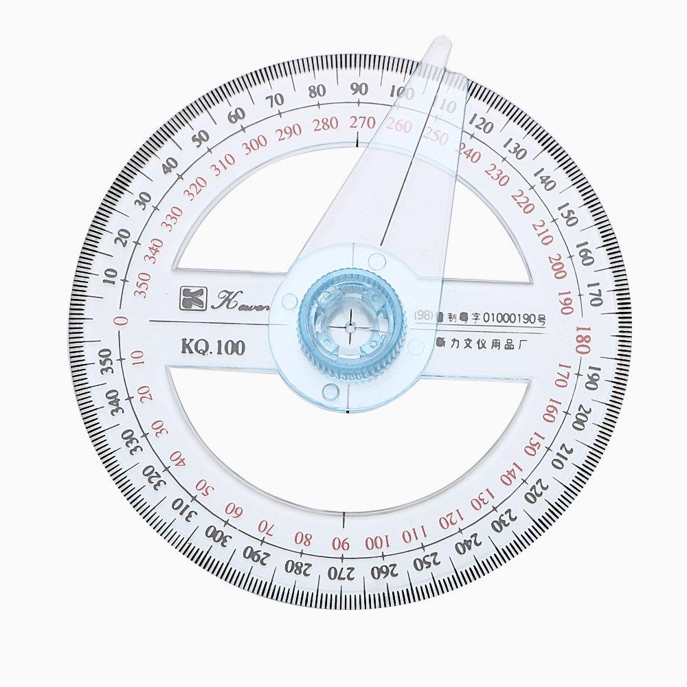 Rapporteur Angle Finder Règle circulaire à 360° 10cm Holdream