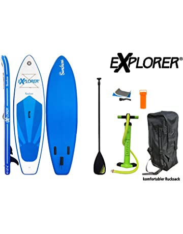 Explorer Sunshine Sup Inflatable Stand Up Paddle Surf Board ISUP Hinchable Board + Paddle
