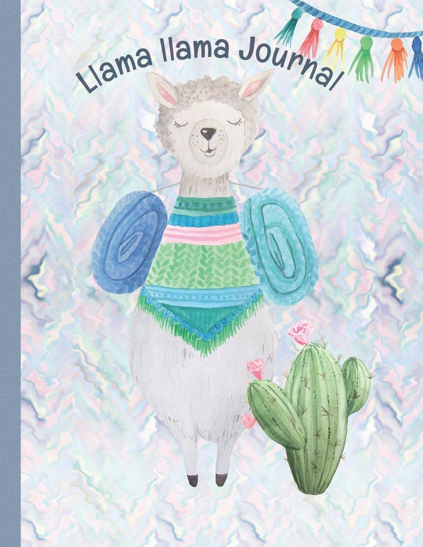 "Download Llama llama Journal: Alpaca Blank Book Watercolor Llamas 140 lined pages 8.5"" X 11 Soft Cover Book PDF"