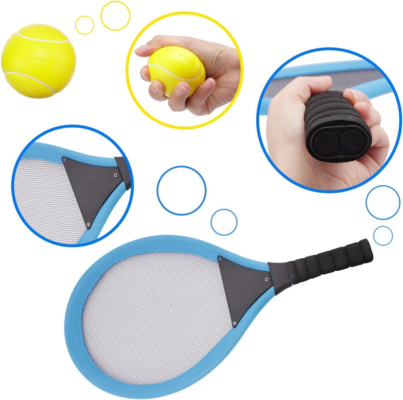 Amatt racchette da badminton racchette da tennis per bambini,2/in 1/sport esterno giocattolo set con palla set giocattolo per bambini