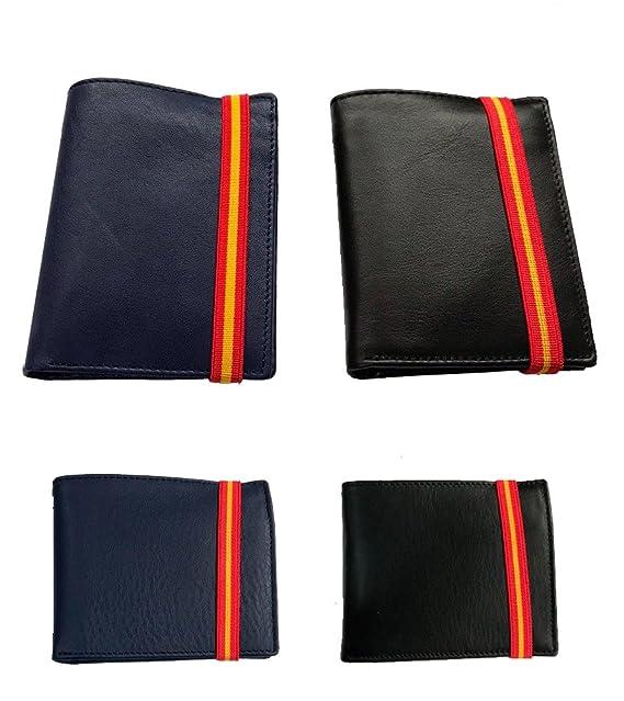 ZiNGS Cartera de piel y Bandera de España - Azul, Horizontal con monedero: Amazon.es: Ropa y accesorios