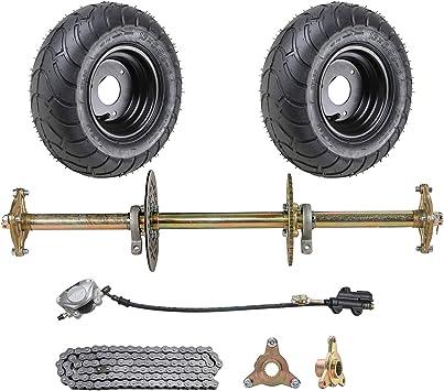"Brake Caliper 32/"" Rear Live Axle Kit Chain ATV QUAD GoKart Steering System"