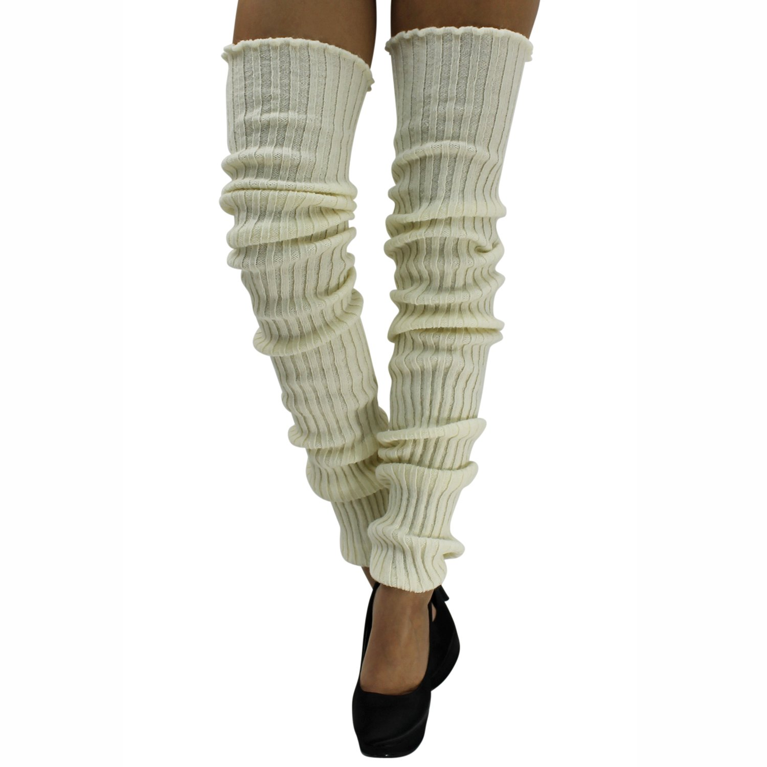 OffWhite Luxury Divas Extra Long Thick Slouchy Knit Dance Leg Warmers