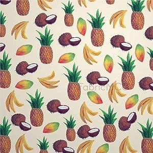 Decorative Tile Stickers Set, Floral Print Flower Pineapple Fruit Ananas Food Bromeliaceae 4 x 4 Inch Peel & Stick Vinyl Tiles Floor Decal, 12 Units Waterproof Vinyl Wall Tiles Sticker for Home Decor