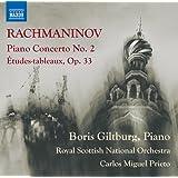 Sergei Rachmaninov: Piano Concerto No. 2, Etudes-tableaux Op. 33 [Boris Giltburg, Royal Scottish National Orchestra; Carlos Miguel Prieto] [Naxos: 8573629]