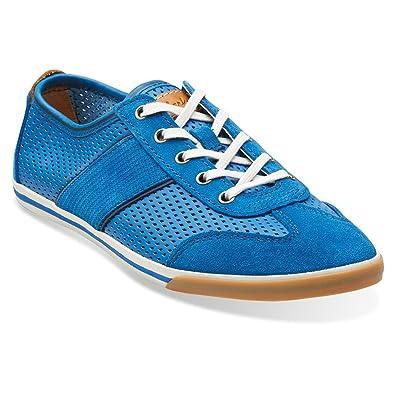 Clarks Men's Mego Walk Lace Up Blue Oxfords ...