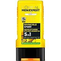 L'Oréal Men Expert Invincible Sport Duschgel, med Citrusdoft Rengör Ansikte, Kropp och Hår utan att torka upp…