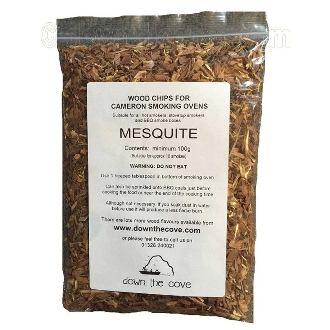 100g Mesquite Wood Chips / Wood Dust for Hot Smokers / Smoking Ovens / BBQ Various