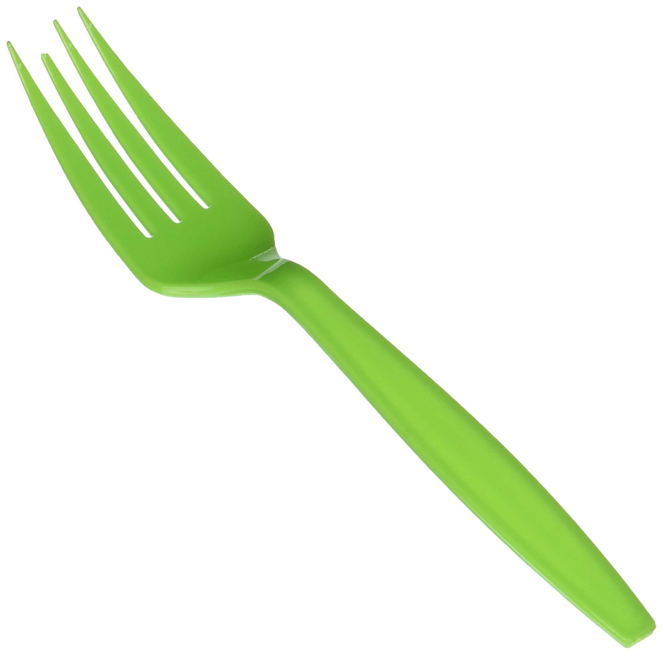 Big Party Pack Kiwi Green Plastic Forks, 100 Ct.