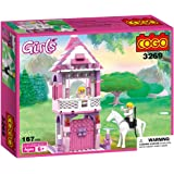 COGO Blocks Toys For Girls 3269 Prince and Princess Love at First Sight Princess Castle Birthday Xmas Present Building Construction sets 167 Pieces