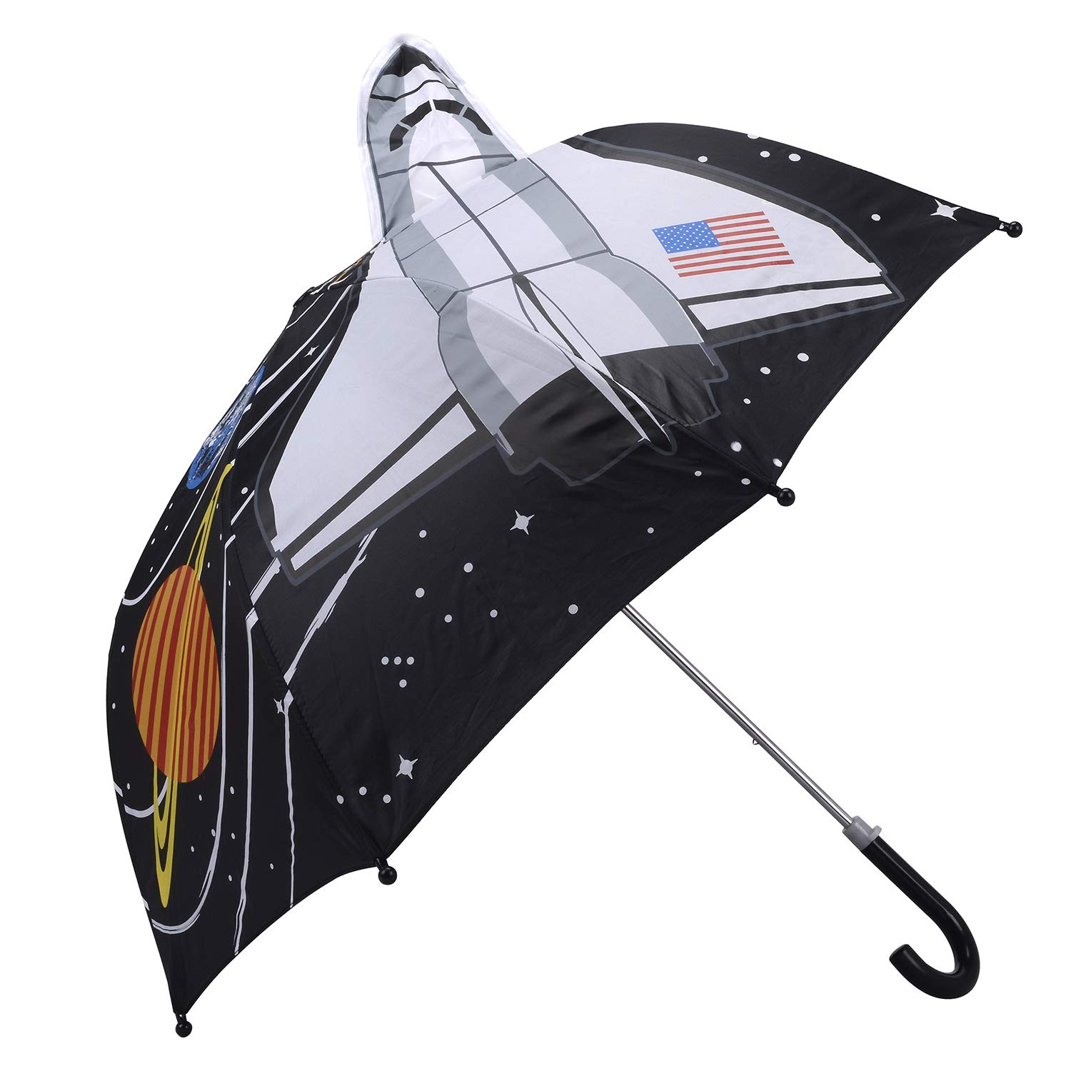 Kidorable Space ship Pop up Umbrella for Kid with Safety Open and Close by Micaddy | Nasa Universal ET Planet Starts | Age 3