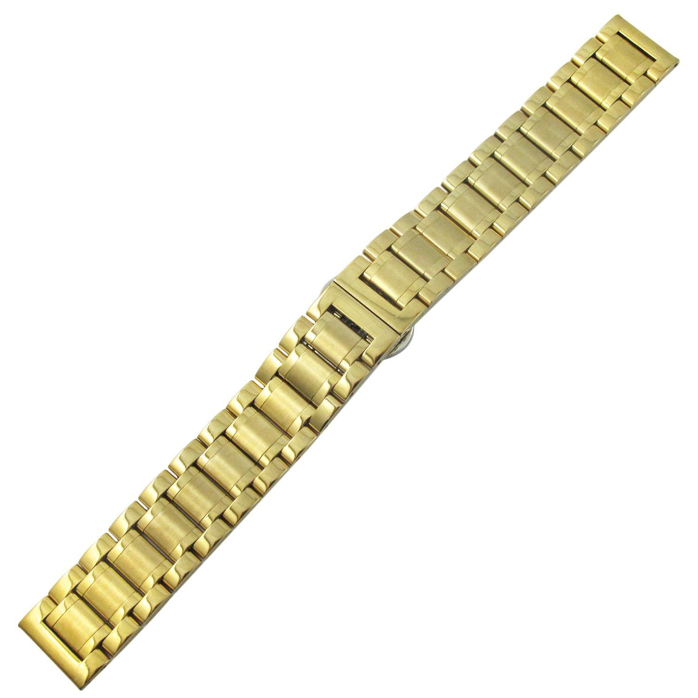 Youyoupifaクラシックレトロユニセックス18 mm合成レザーバンドゴールドストラップ)  B01MRVI0YJ