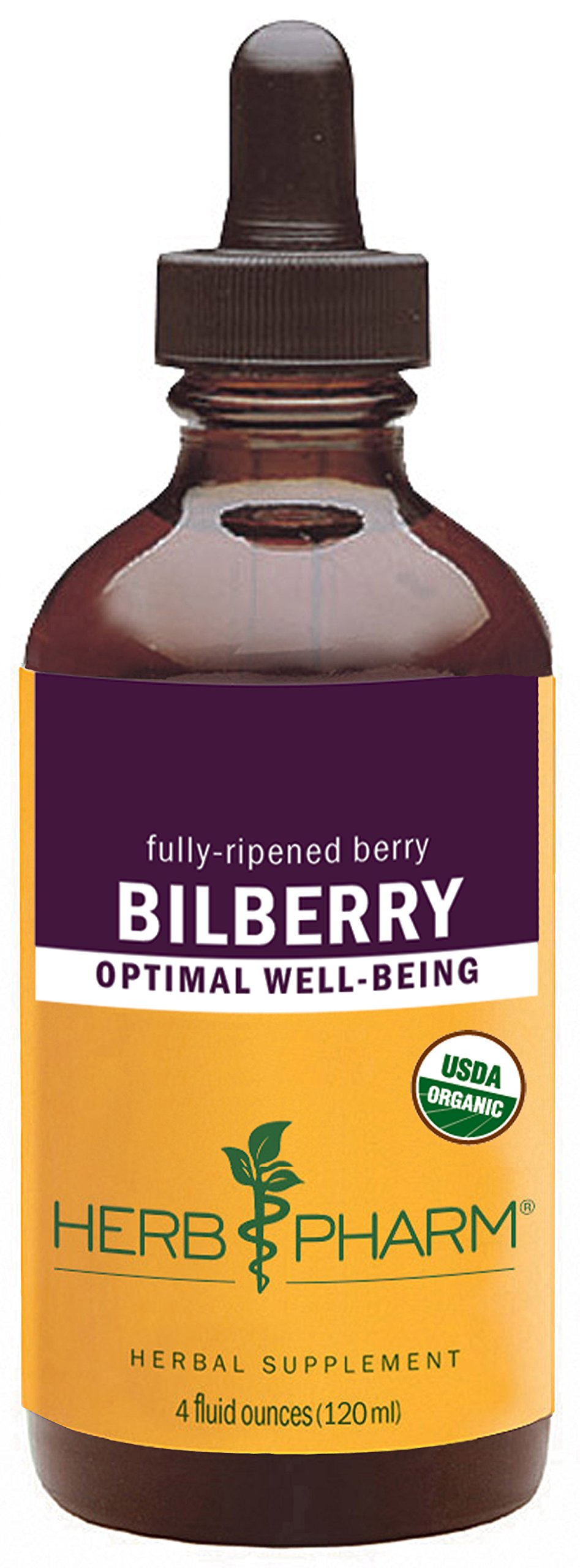 Herb Pharm Bilberry Liquid Extract for Eye and Vision Support - 4 Ounce