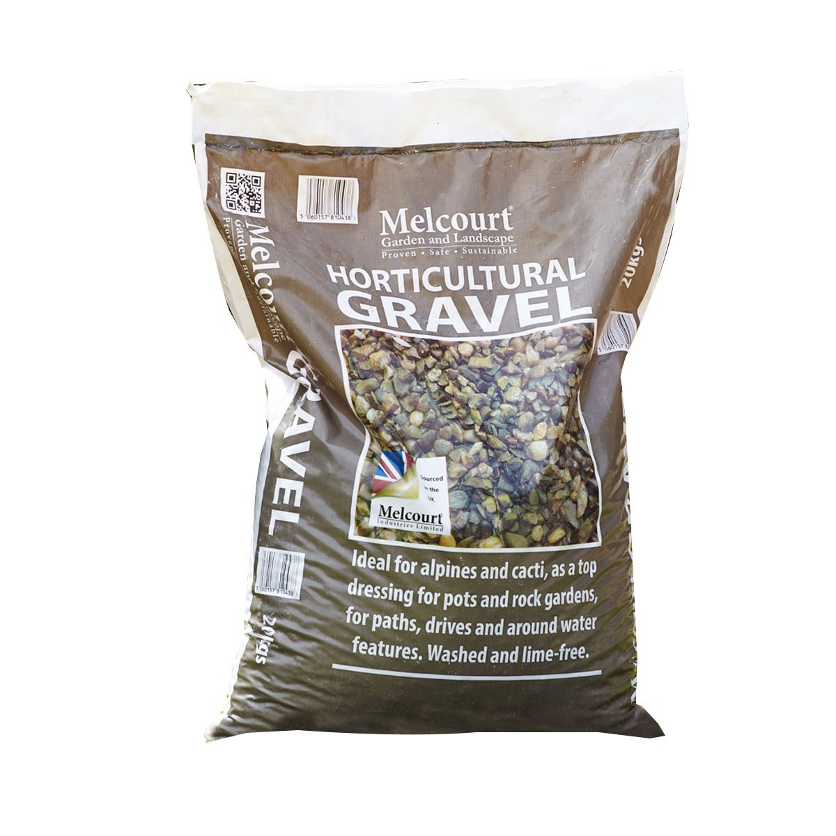 Suregreen Melcourt Horticultural Gravel 20Kg Bag Multipurpose Gravel 4-10mm Particle Size