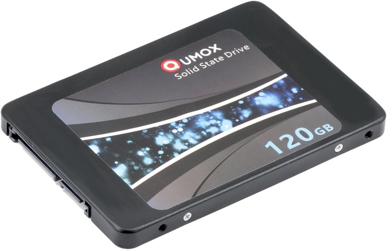 QUMOX SSD de 120GB Interna de Estado sólido de Unidad SATA III de ...