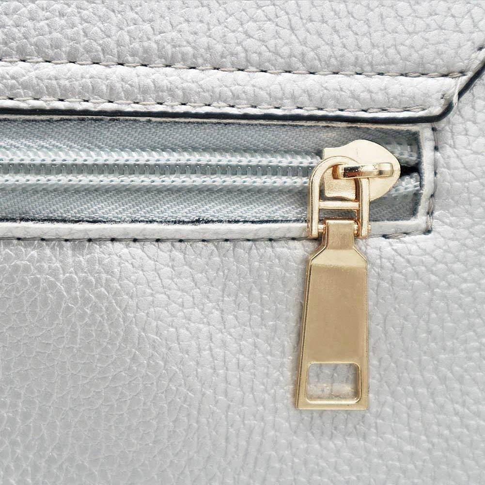 Solarfun Silver Wristlet Clutch Purse Appealing Crossbody Shoulder Bags for Women Girls