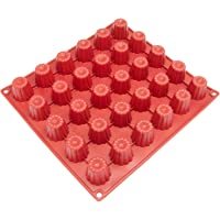 Freshware CB-113RD 30-Cavity Mini Silicone Mold for Caneles and Bordelais Fluted Cakes