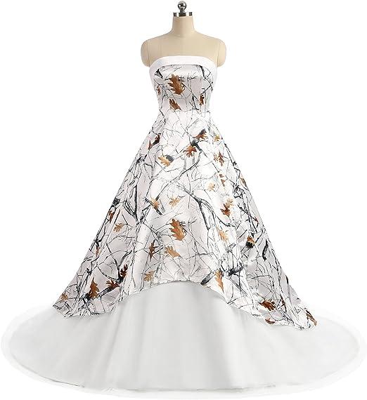 Ilovewedding Realtree Camo Wedding Dresses Strapless A Line